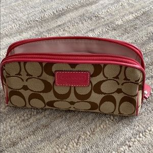 Coach cosmetic holder